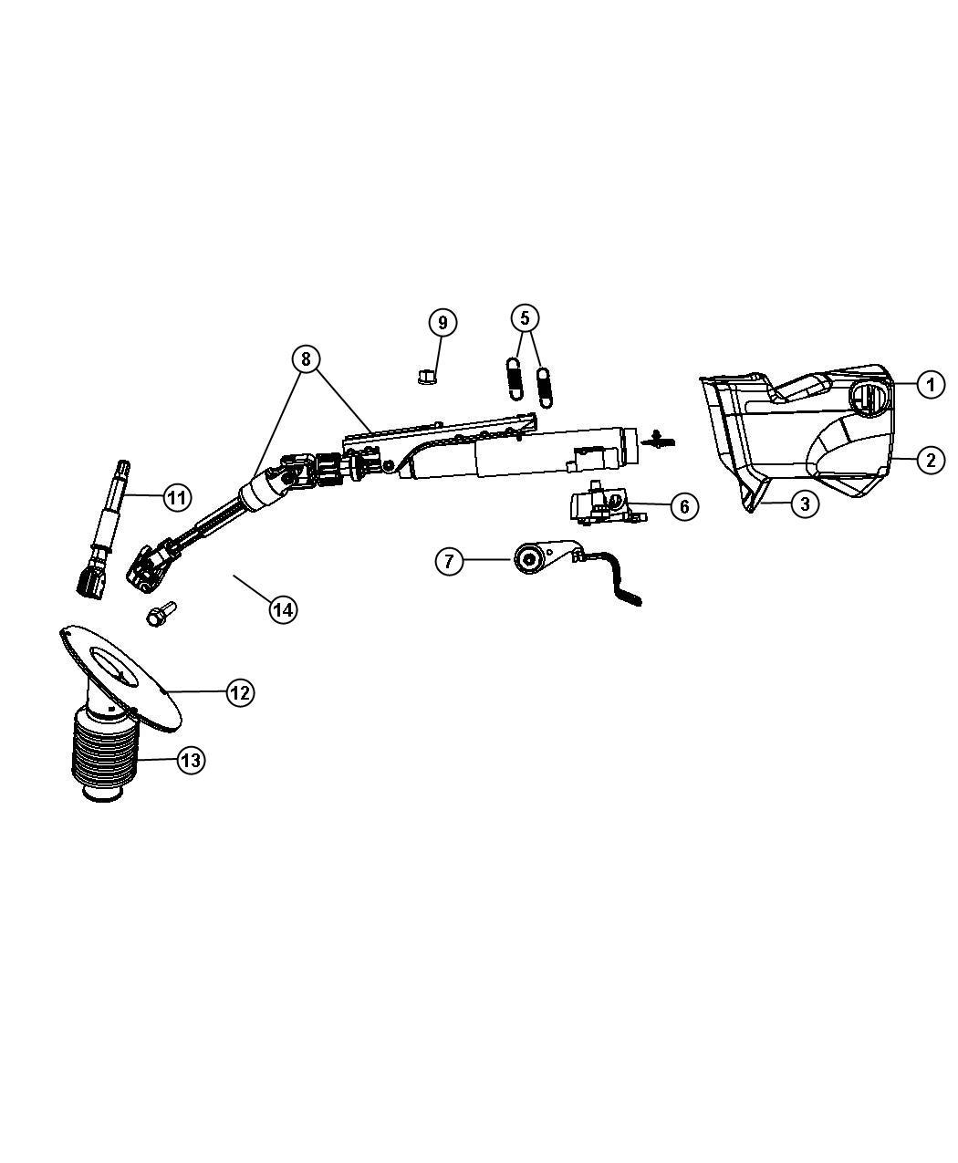 2010 dodge grand caravan bracket  steering column