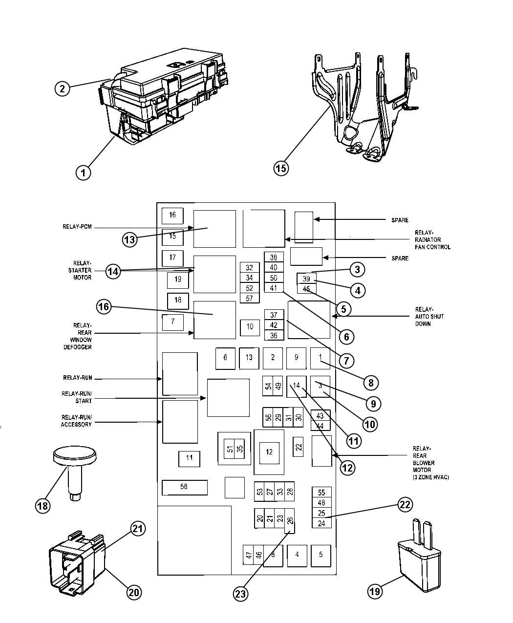 2010 dodge nitro cover  totally integrated power module