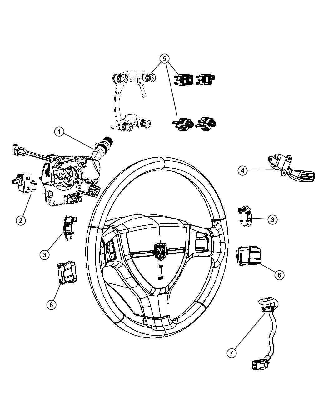 2014 Ram C V Tradesman Camshaft: 2015 Ram C/V TRADESMAN Switch. Horn. [scl], [nhm], [rdz