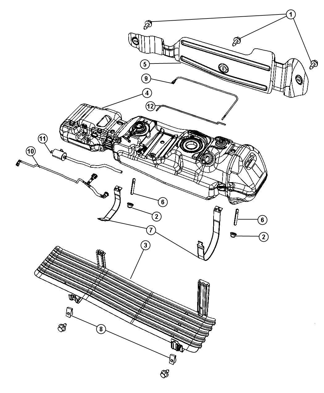 2006 dodge dakota tube  fuel vapor  22 gallon fuel vapor rov to control valve  flexible fuel