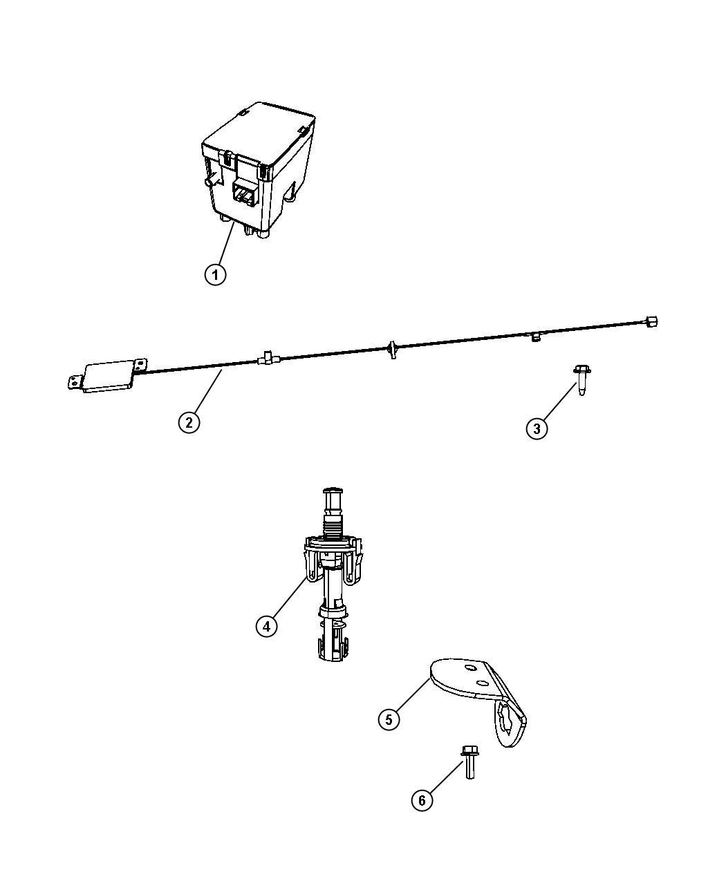 2010 jeep commander antenna  keyless entry   remote start system   xbm  modules  deterrent