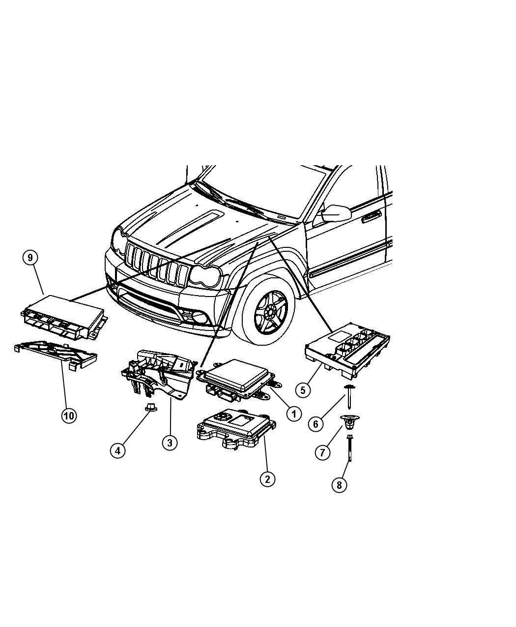 2010 Jeep Commander Module. Powertrain control. Generic ...