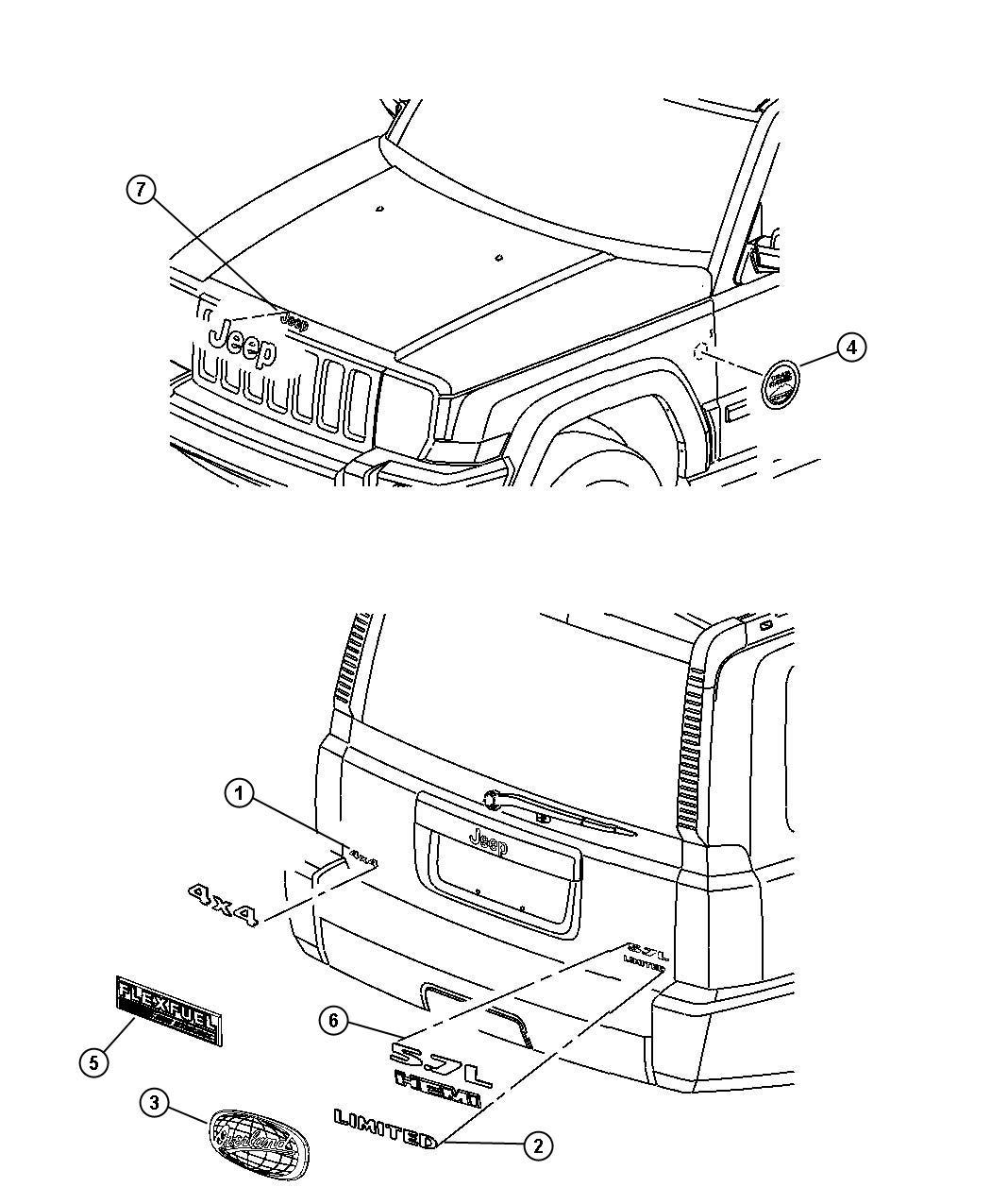 2009 Jeep Commander Exterior: 2009 Jeep Commander Nameplate. Hemi. [mw5]. Nameplates