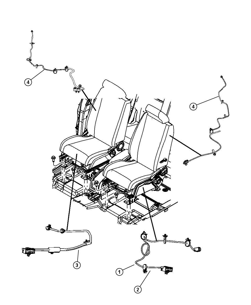 2010 Dodge Journey Wiring  Power Seat  6 Way  Seat Track