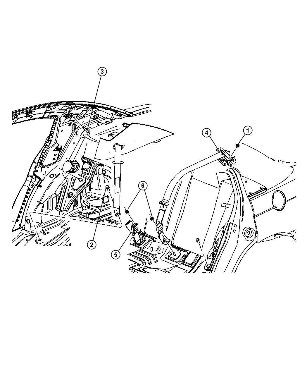 2010 Chrysler Sebring Seat Belt  Retractor  Right   Dv  E