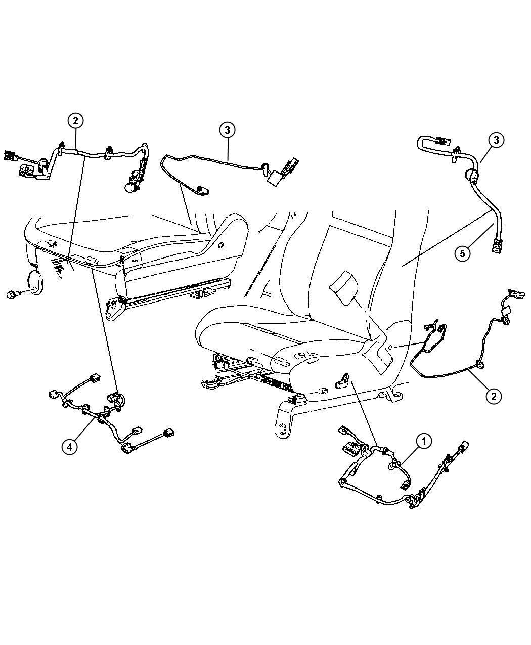 2010 Chrysler Sebring Wiring  Seat  6 Way Power  Track