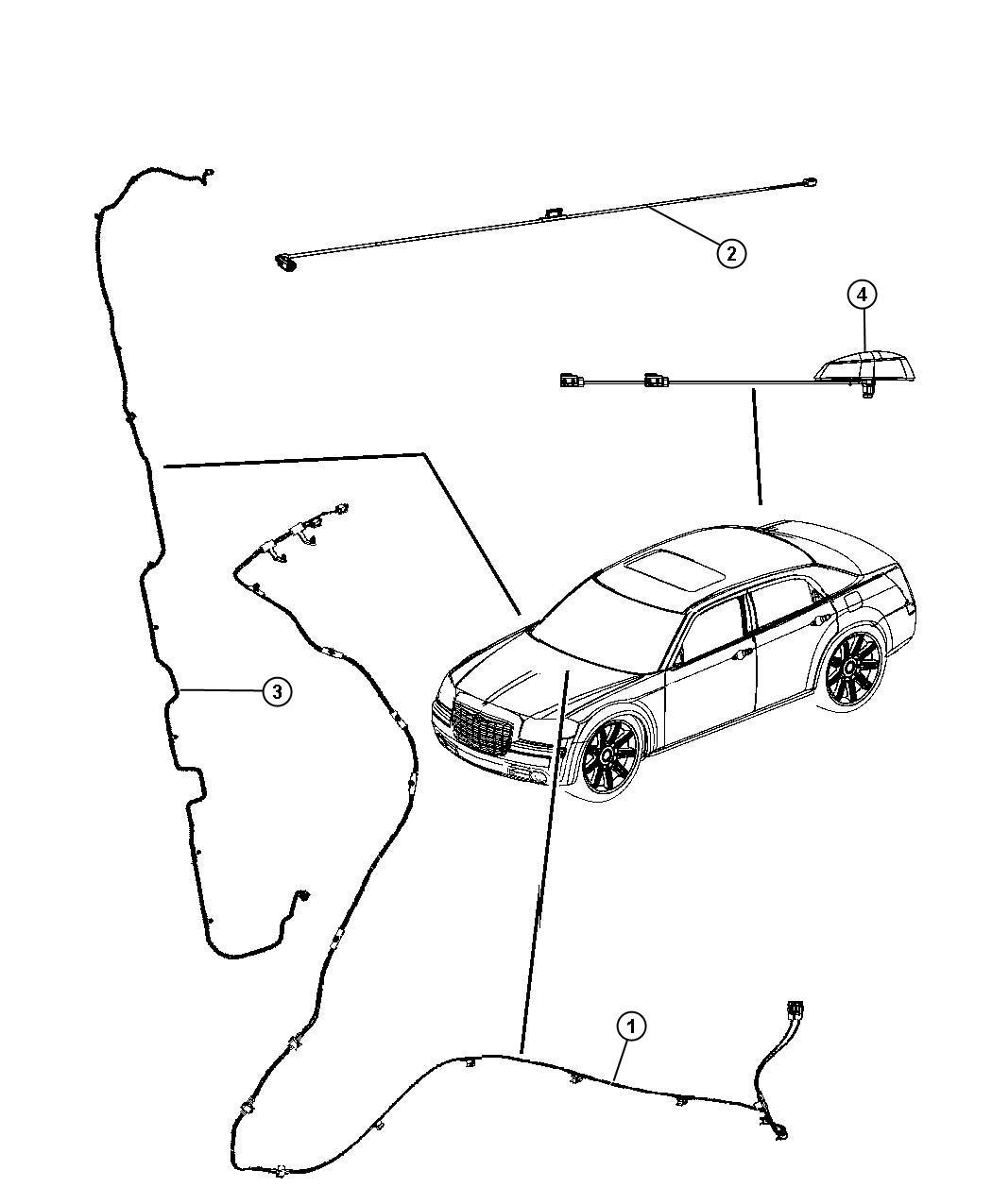 2010 Chrysler Sebring Cable  Wiring  Radio  Satellite