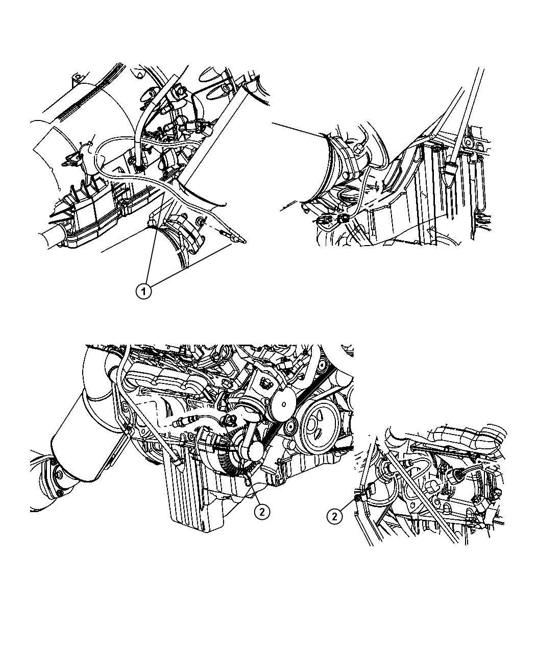 2008 Jeep Grand Cherokee Sensor  Exhaust Temperature   Diesel Particulate Filter  Dpf    Down