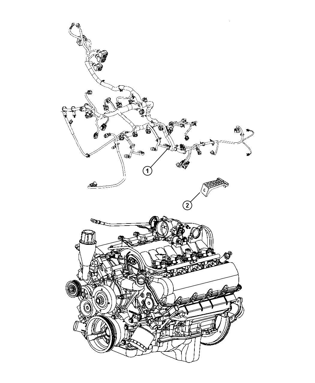 2010 Dodge Ram 1500 Wiring  Engine   Dh5
