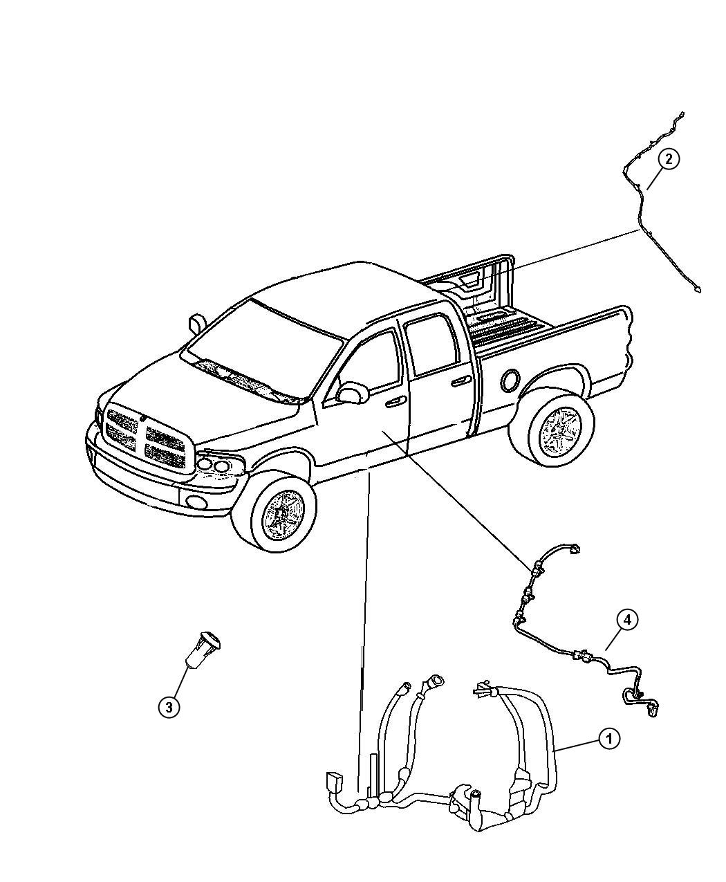 Dodge Ram 2500 Wiring  Body   Heated Second Row Seats