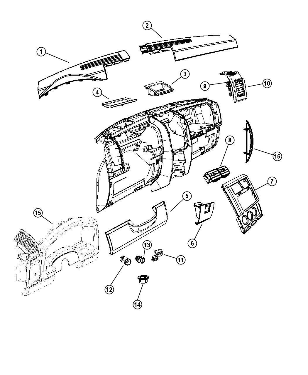 2010 jeep liberty bezel  cluster  instrument cluster  trim