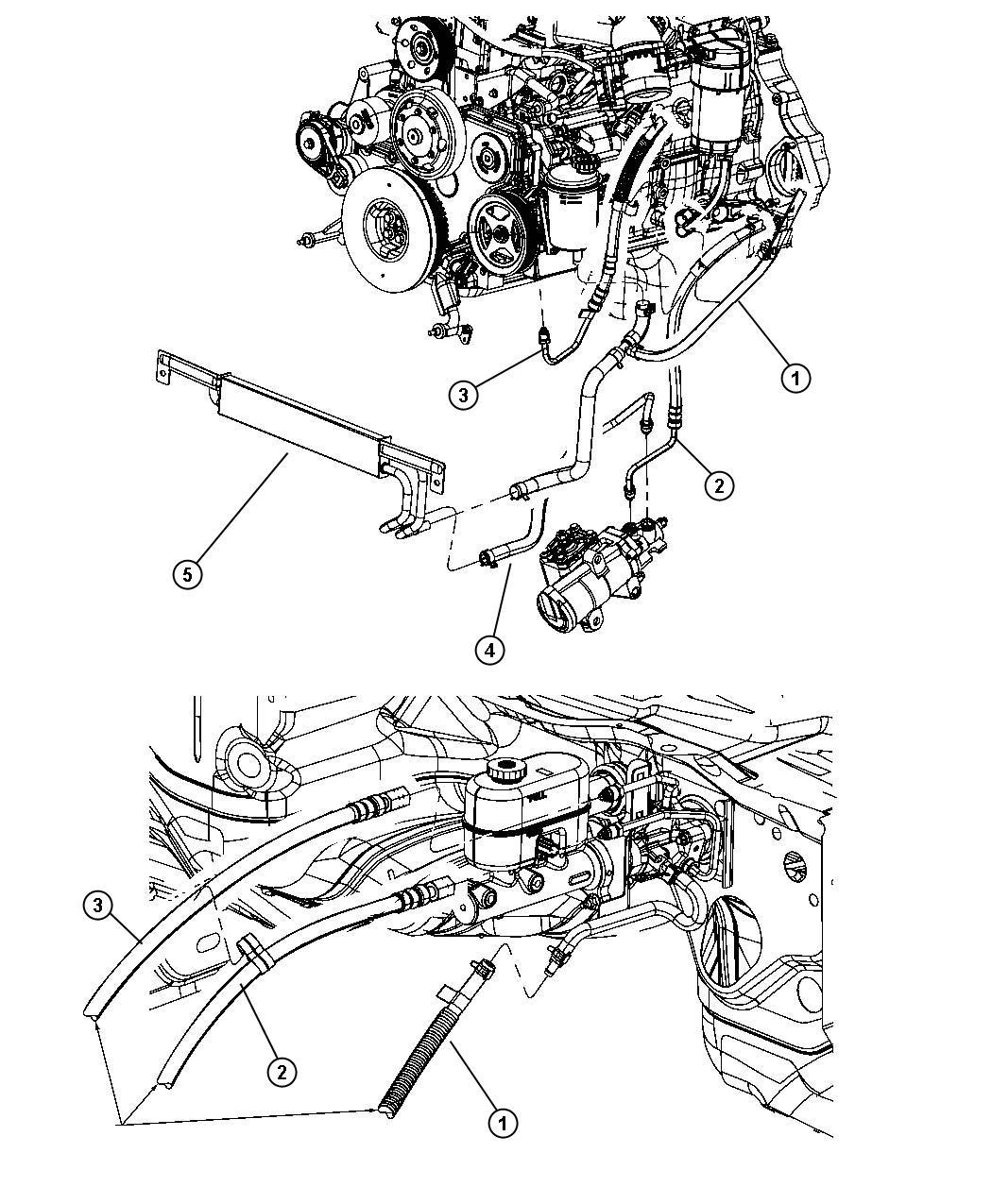 2011 Dodge Ram 3500 Hose  Power Steering Pressure  Pump To