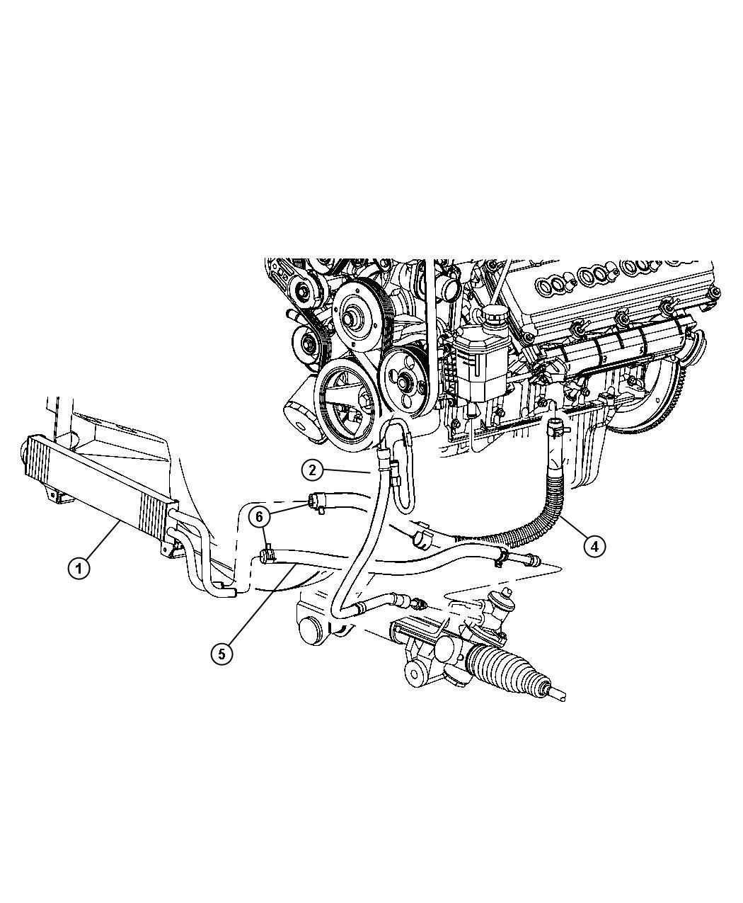 2010 Dodge Ram 2500 Cooler  Power Steering  Hydrobooster