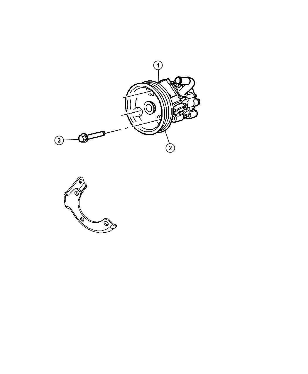 2008 Jeep Grand Cherokee Pulley  Power Steering Pump  Diesel  Turbo  Related