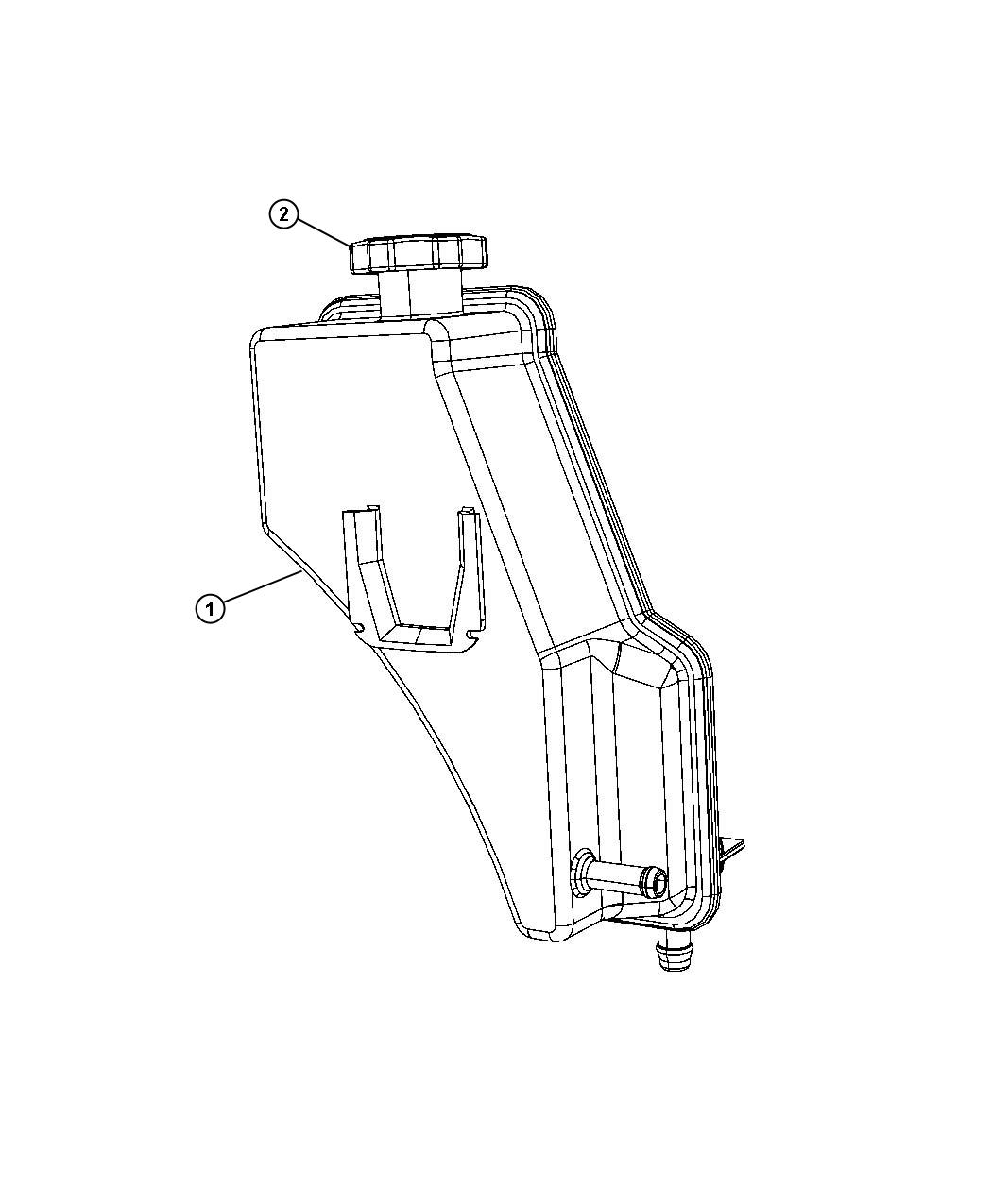 2008 jeep commander reservoir  power steering fluid   hydraulic engine cooling