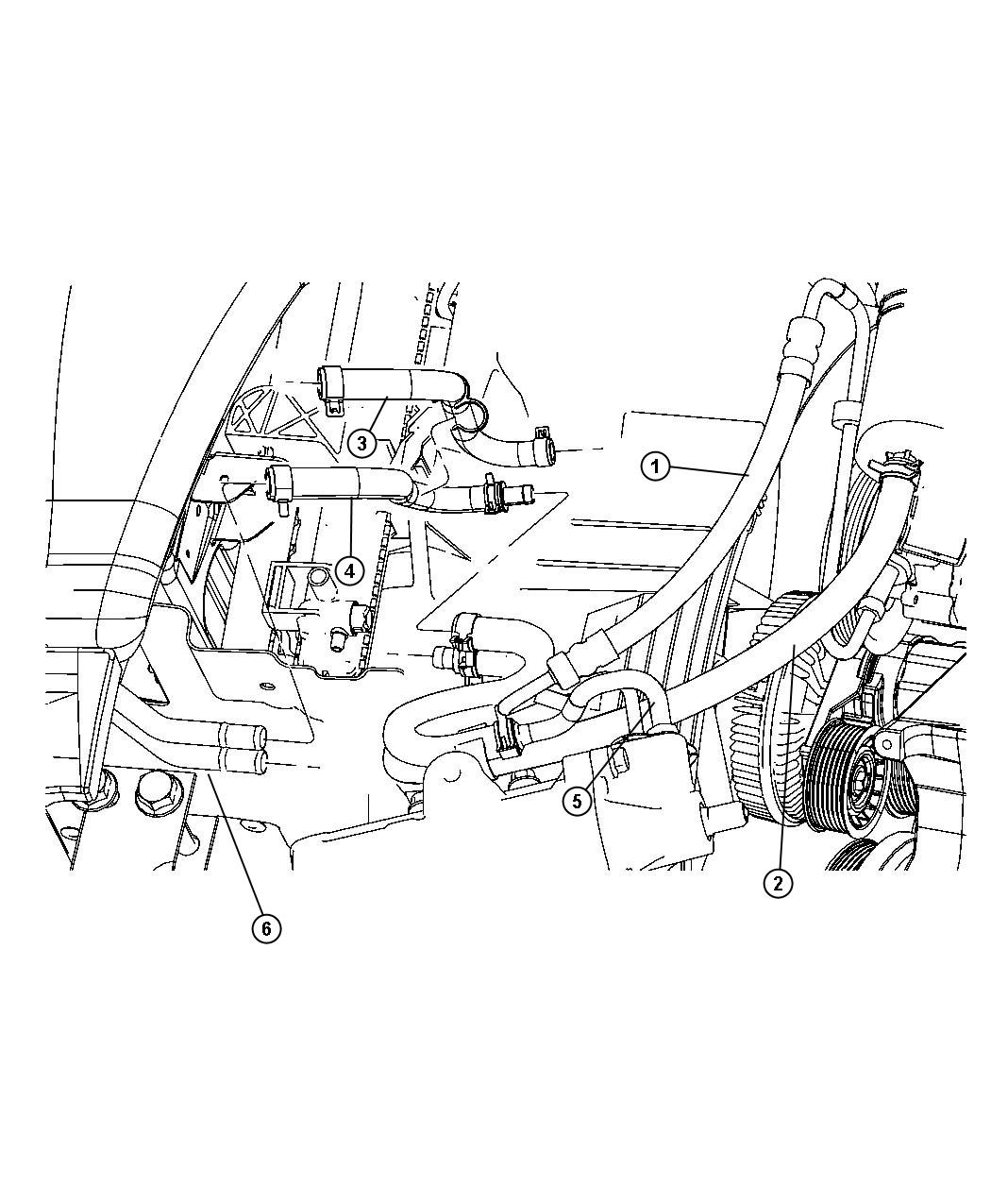 2012 Dodge Ram 2500 Hose  Power Steering Return  Jumper