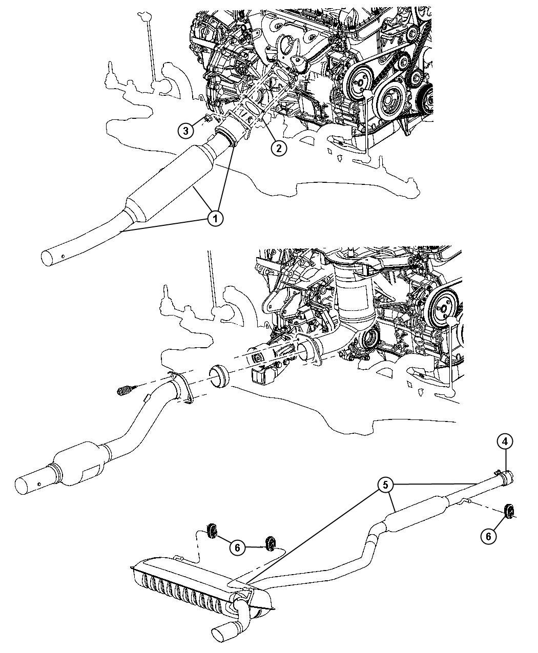 2010 jeep compass converter  catalytic  exhaust  emissions