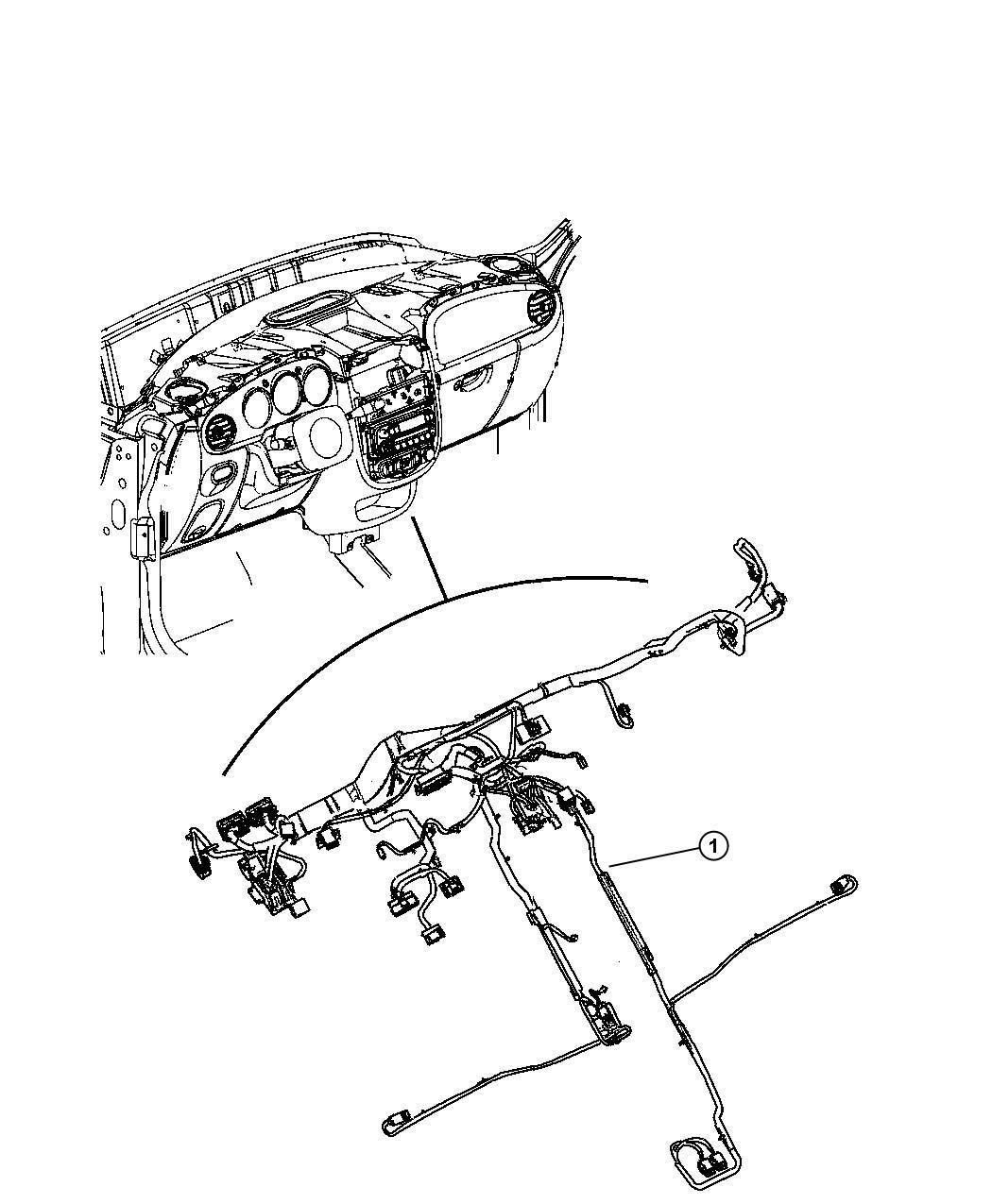 chrysler pt cruiser wiring  instrument panel   rcd  rdd