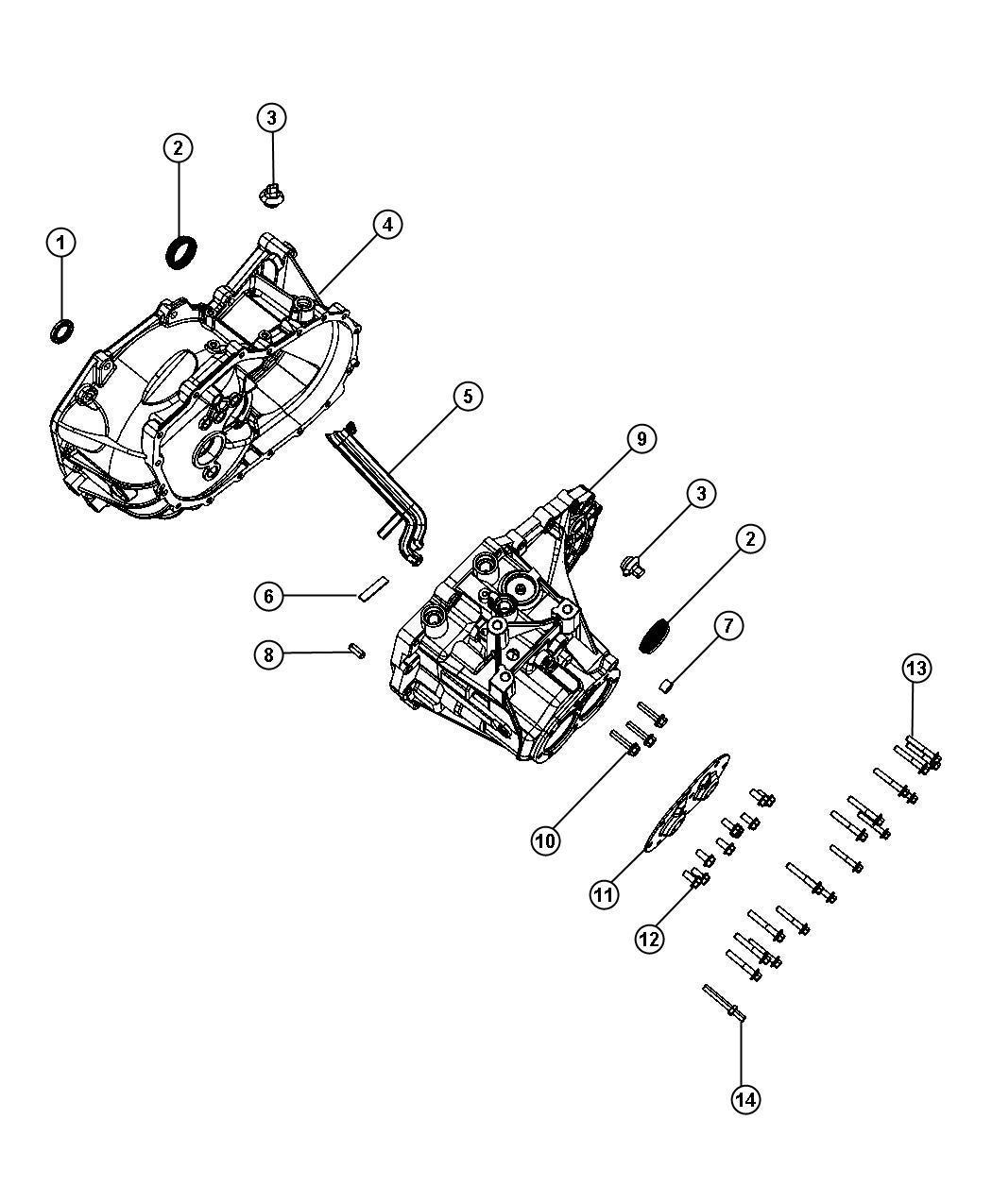 2011 jeep compass case  transmission  power  train  module