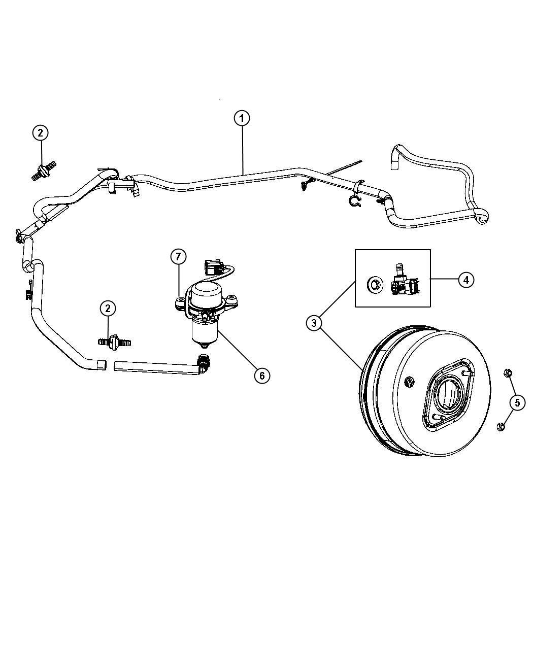 2011 Jeep Grand Cherokee Hose  Brake Booster Vacuum  Turbo