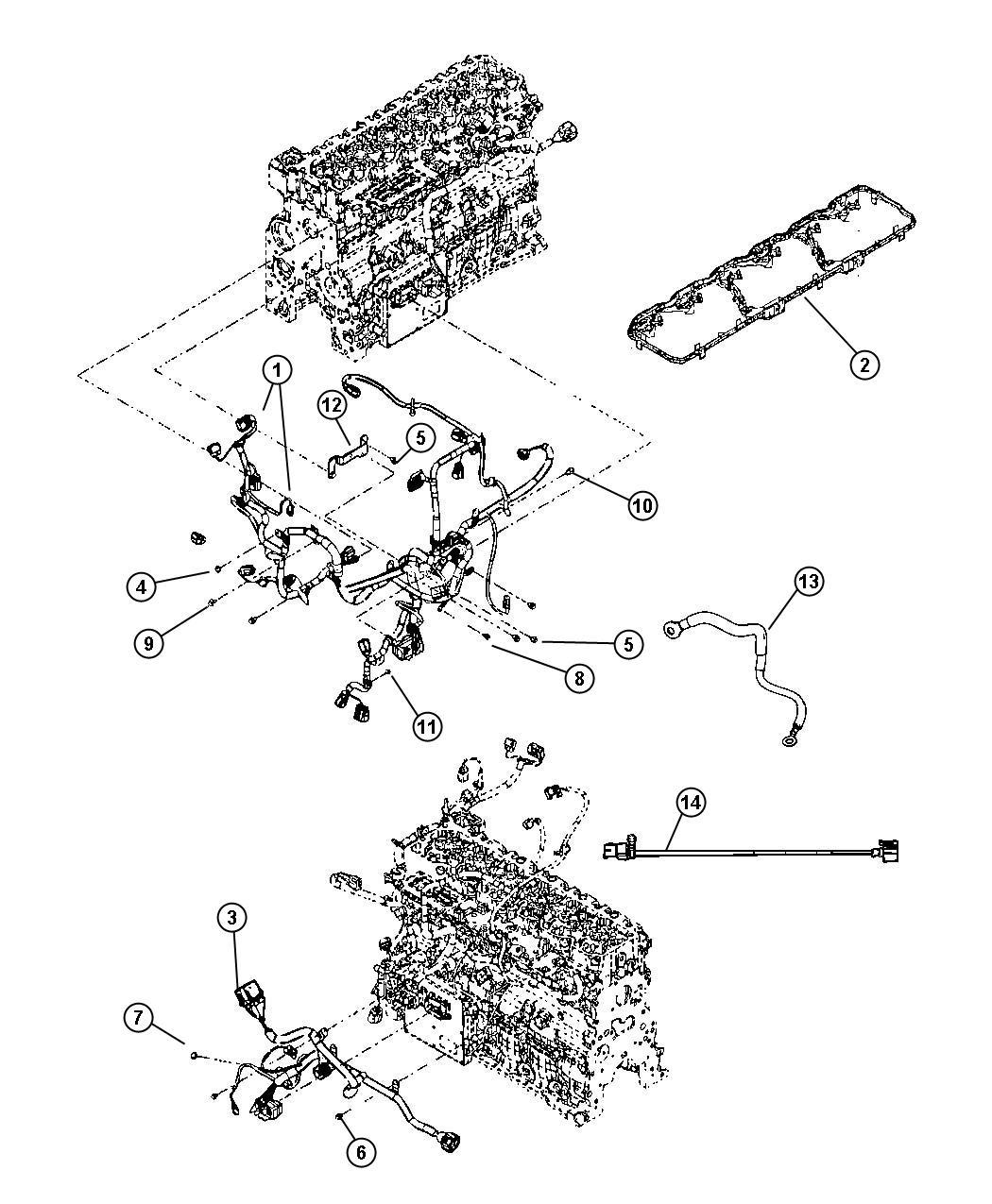 2013 dodge ram 3500 cord  engine block heater   nhk