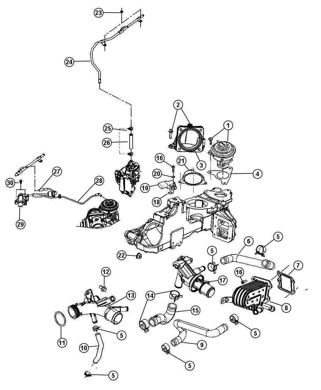 Dodge Nitro Sensor  Air Temperature  Cylinder  Head