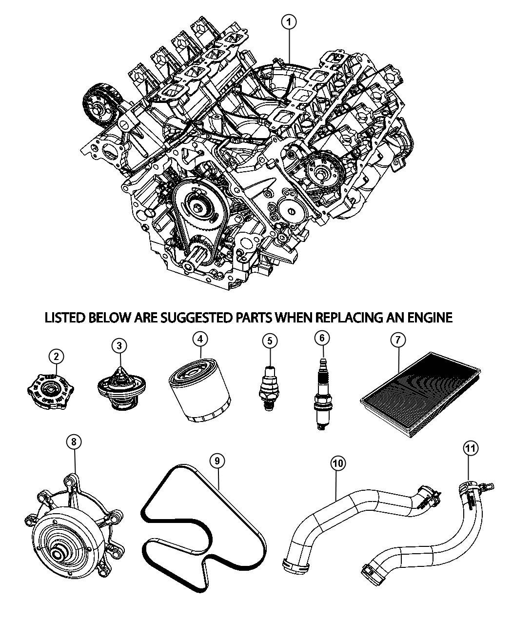 2012 Dodge Grand Caravan Belt  Accessory Drive  Serpentine  Engine  Engines  Suggested