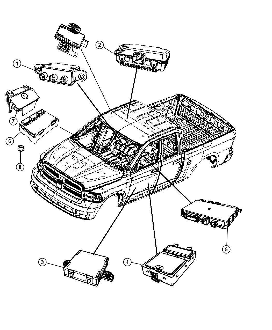 2012 dodge ram 1500 module  heated seat  trim    xj