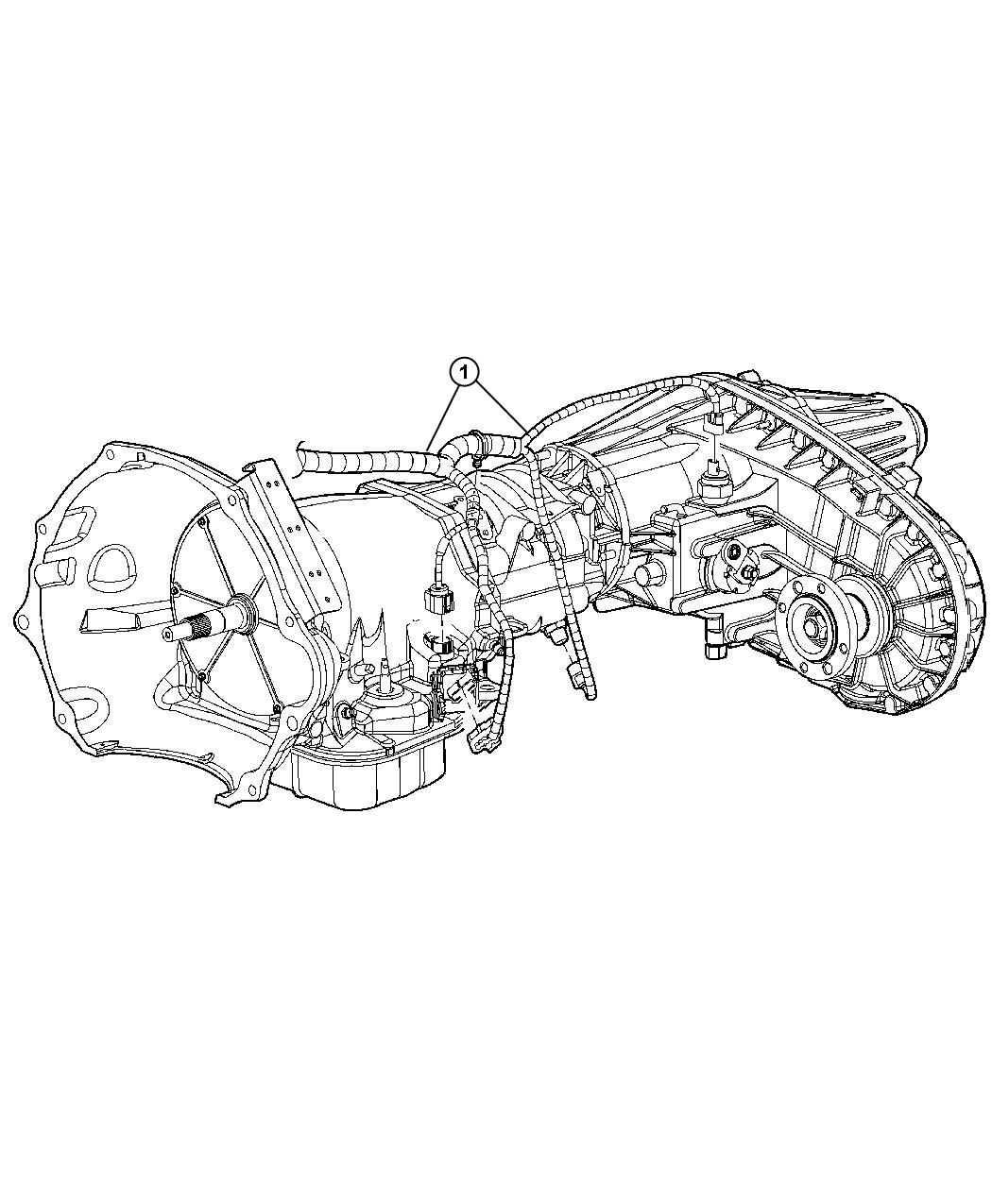 2012 Dodge Ram 1500 Wiring  Transmission  Case  Transfer