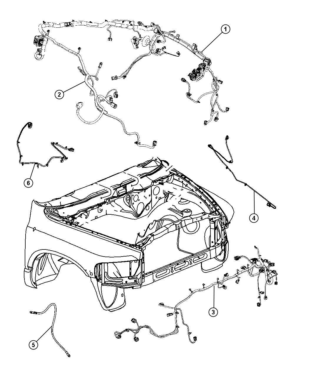 Dodge Ram 2500 Wiring  Front End Module   Fog Lamps    Fog