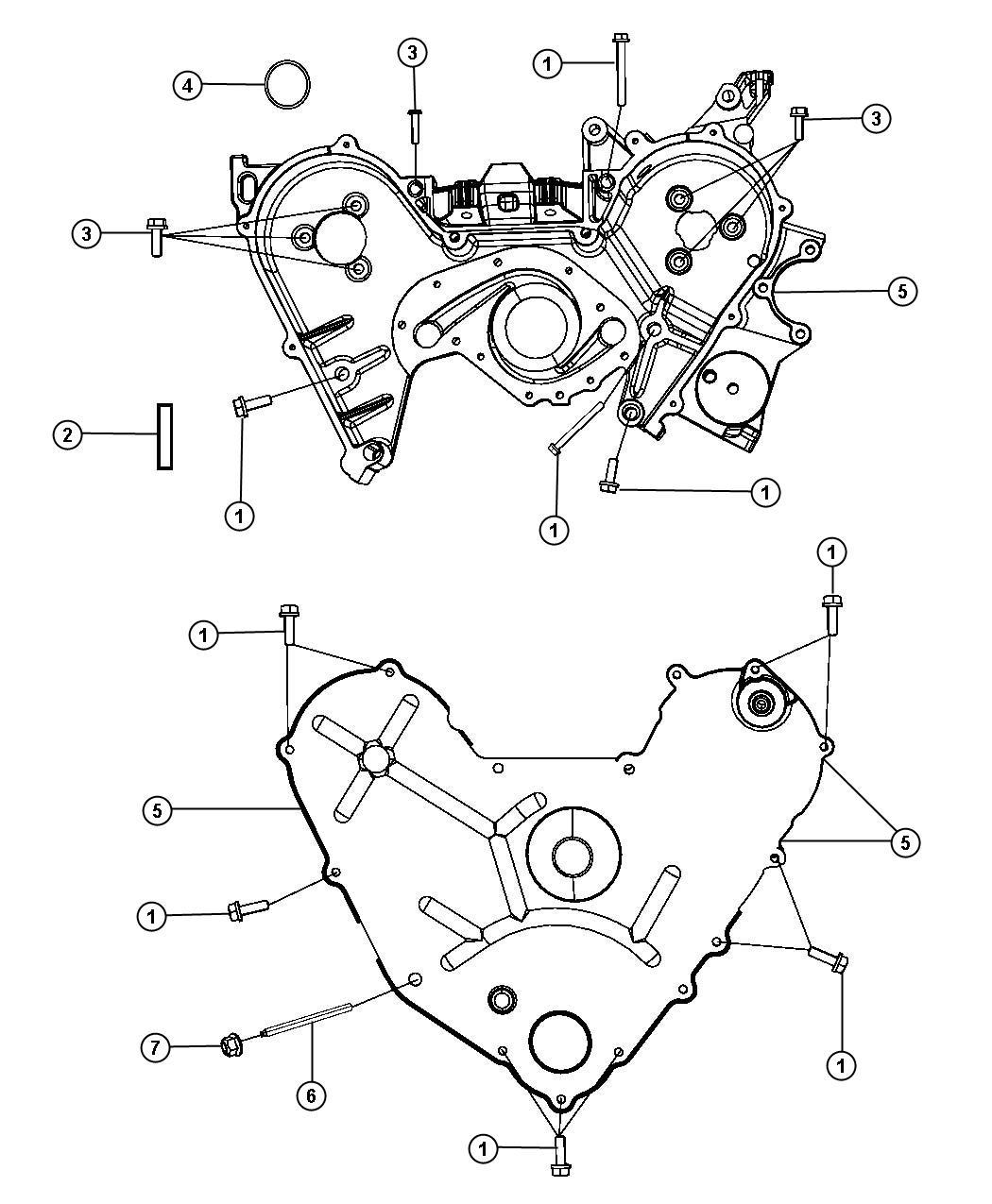2011 Dodge NITRO Cover. Timing case. Inner. Engine ...