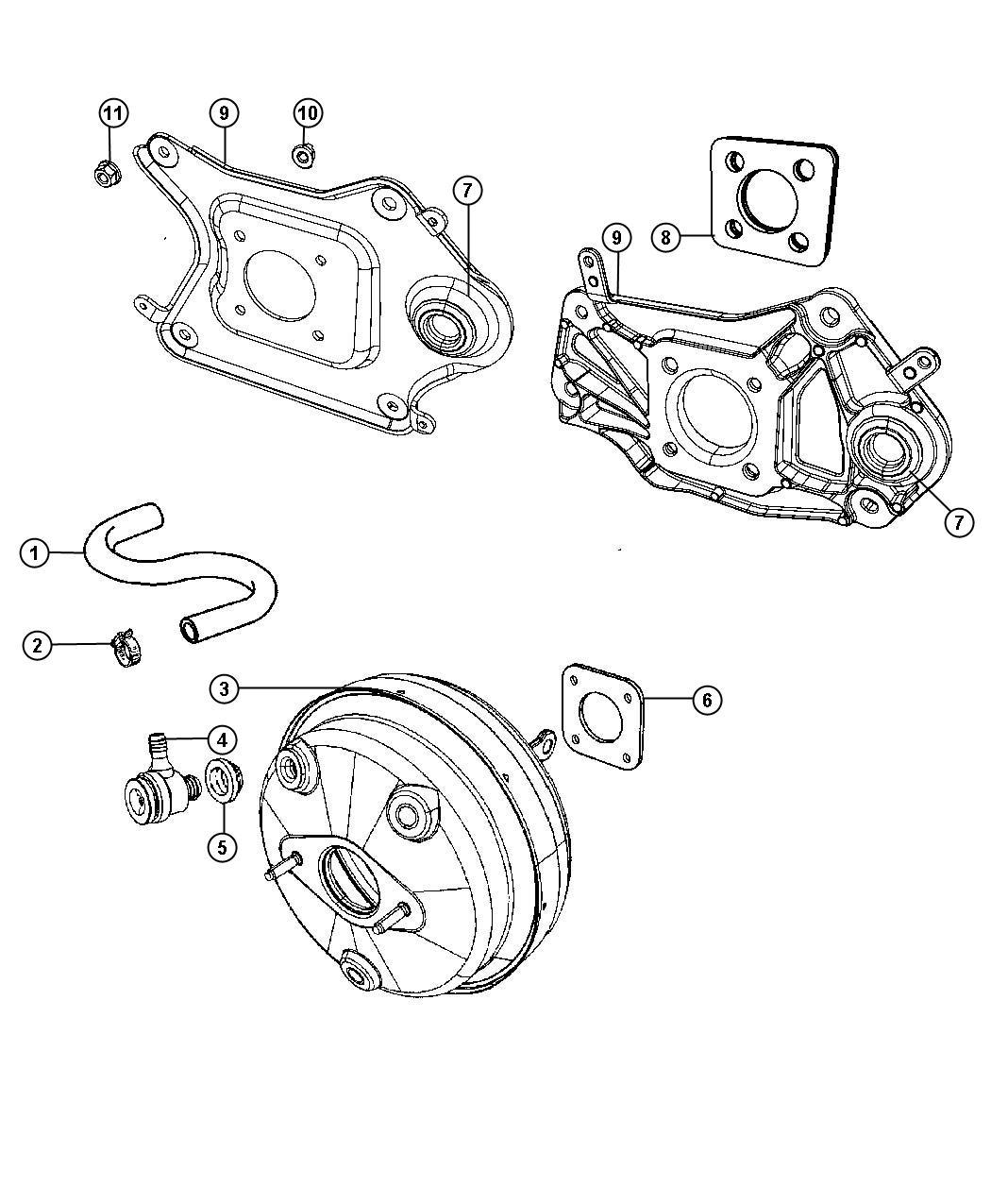2011 Jeep Liberty Booster  Power Brake  Maintenance