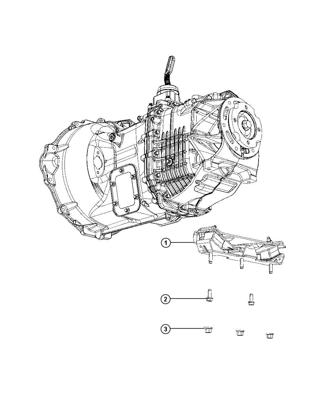 2015 ram 5500 bracket and insulator  two wheel drive  transmission support