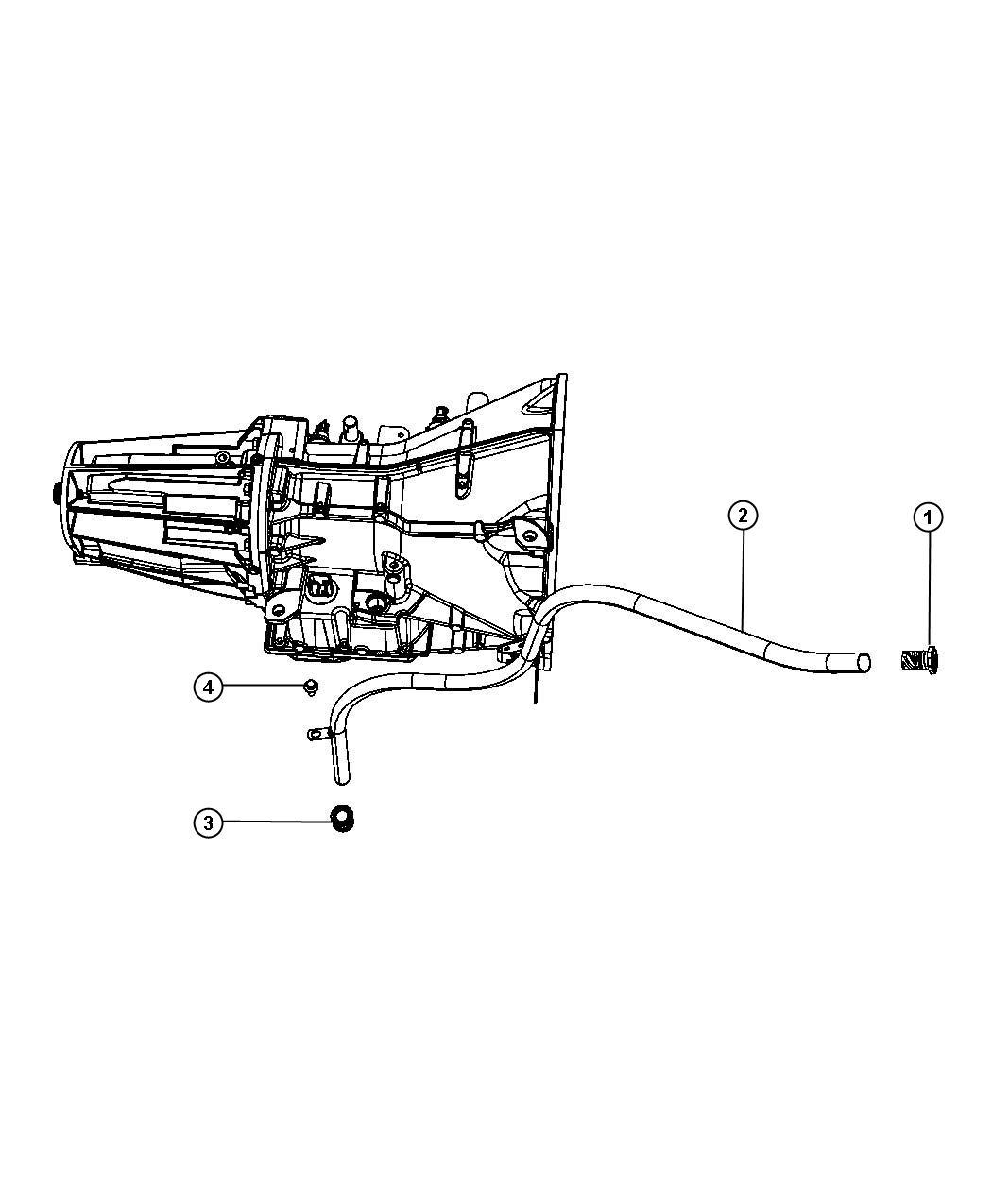 Dodge Nitro Tube  Transmission Oil Filler