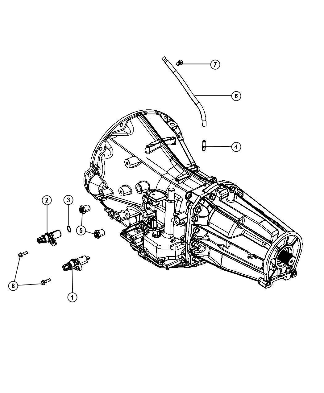 Dodge Nitro Tube  Vent  Transmission  Case  Mounting