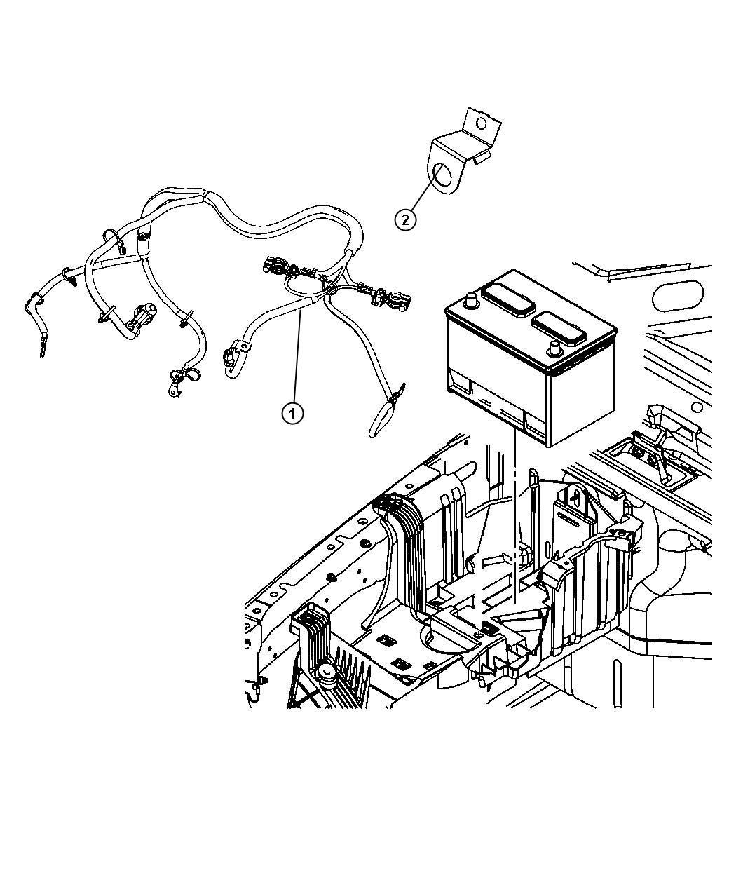 Jeep Wrangler Wiring. Battery. Mopar, module, complete ...
