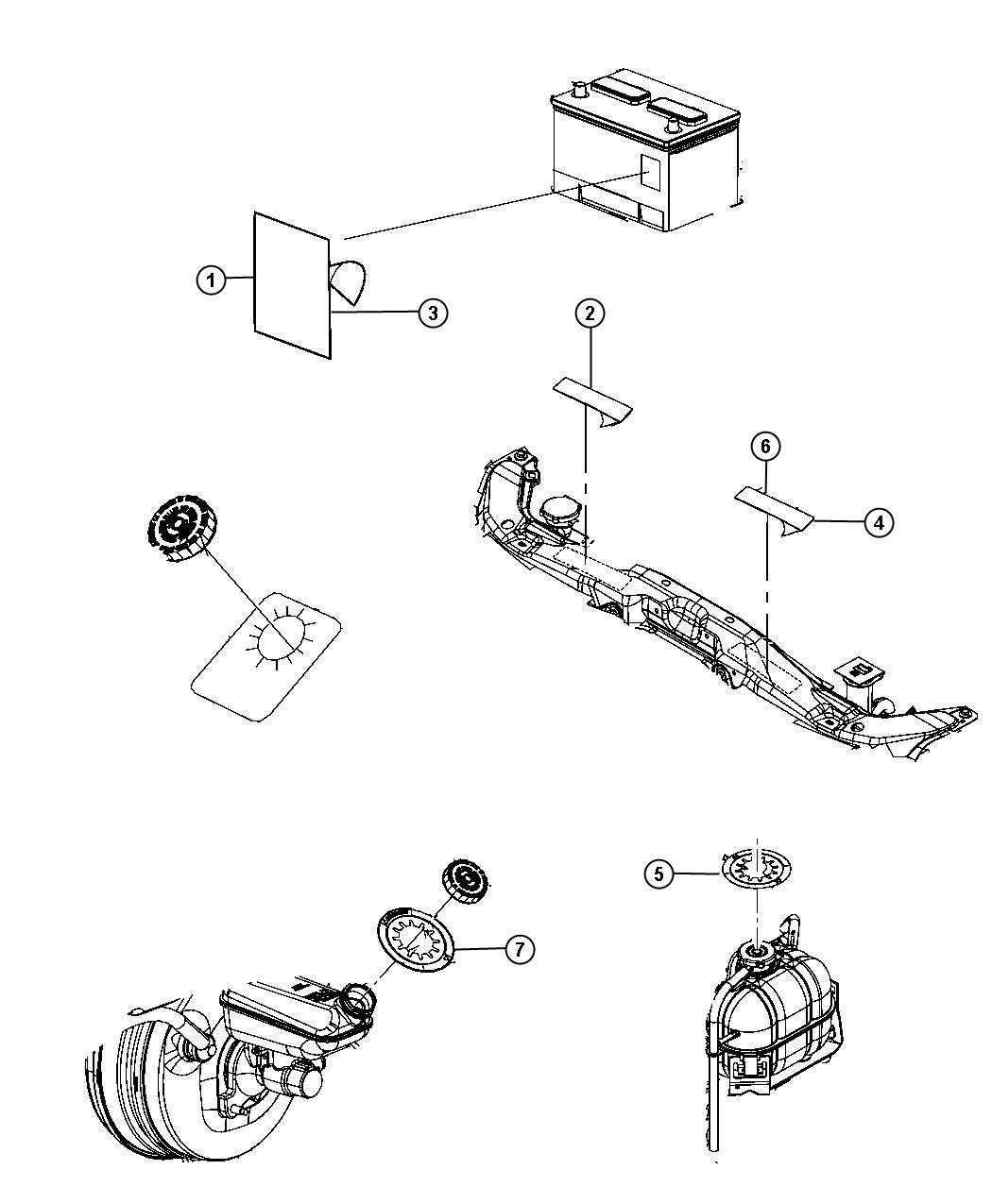 Dodge Nitro Label  Air Conditioning System  Refrigerant