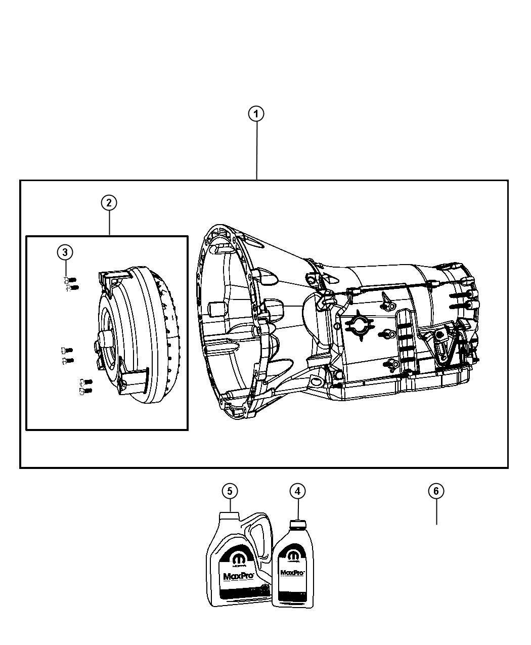 Dodge Nitro Transmission Kit  With Torque Converter  Export  Remanufactured