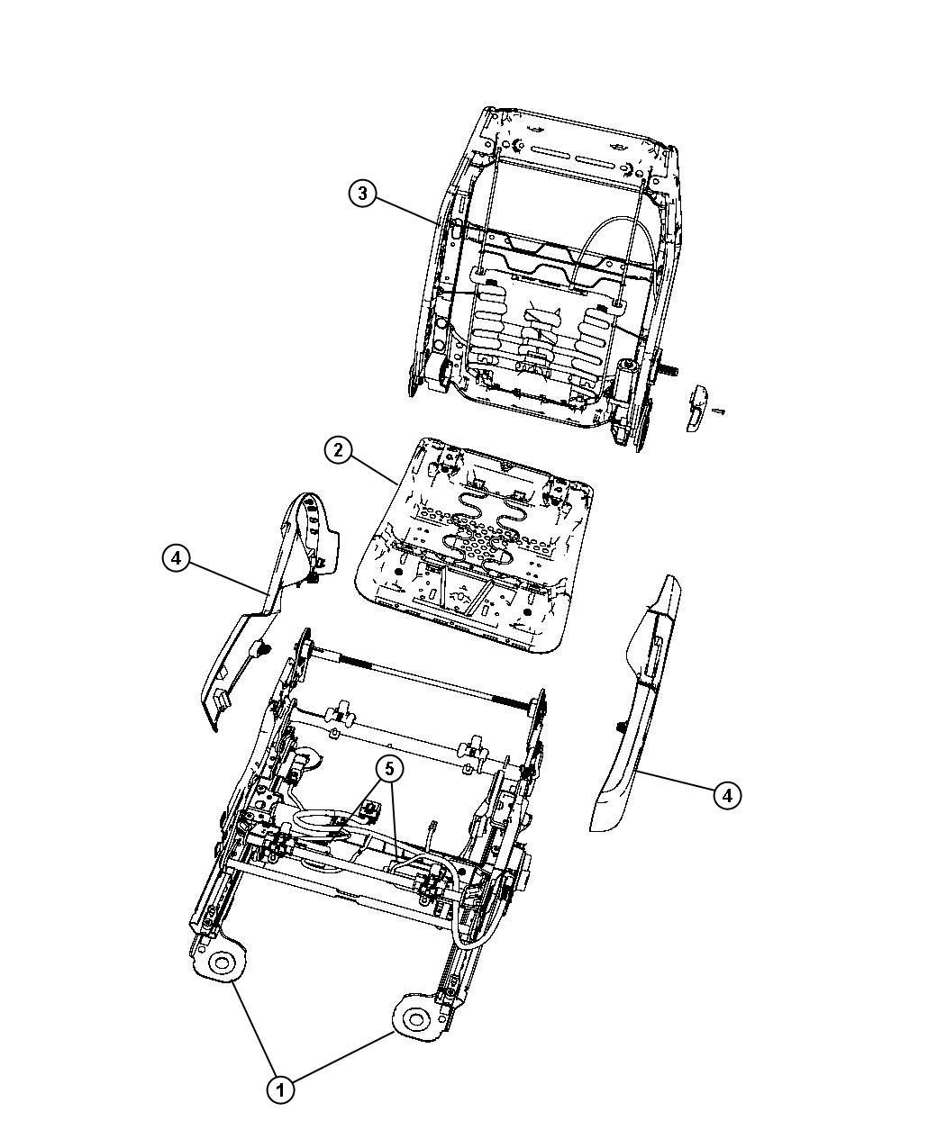 2012 chrysler 200 motor  power seat  trim    n7    driver