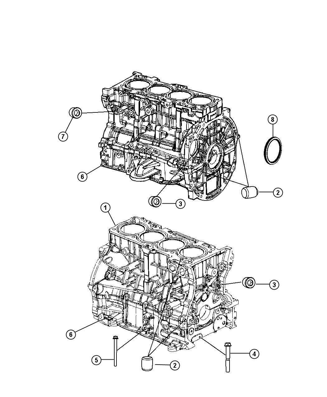 Dodge Avenger Engine  Short Block