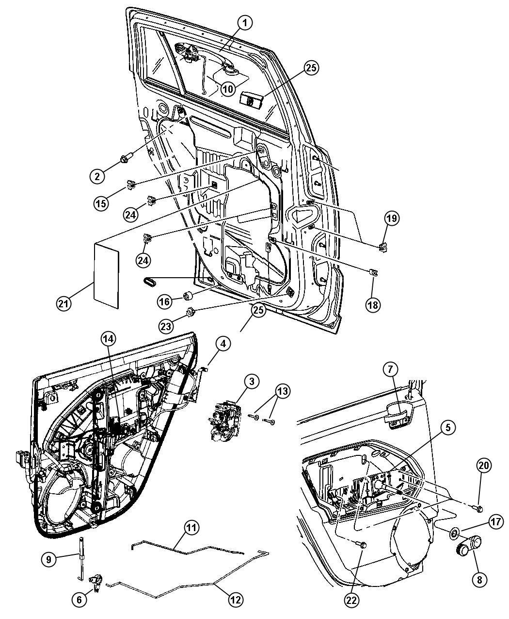 2010 dodge caliber knob and push rod  left  door latch  trim    o0