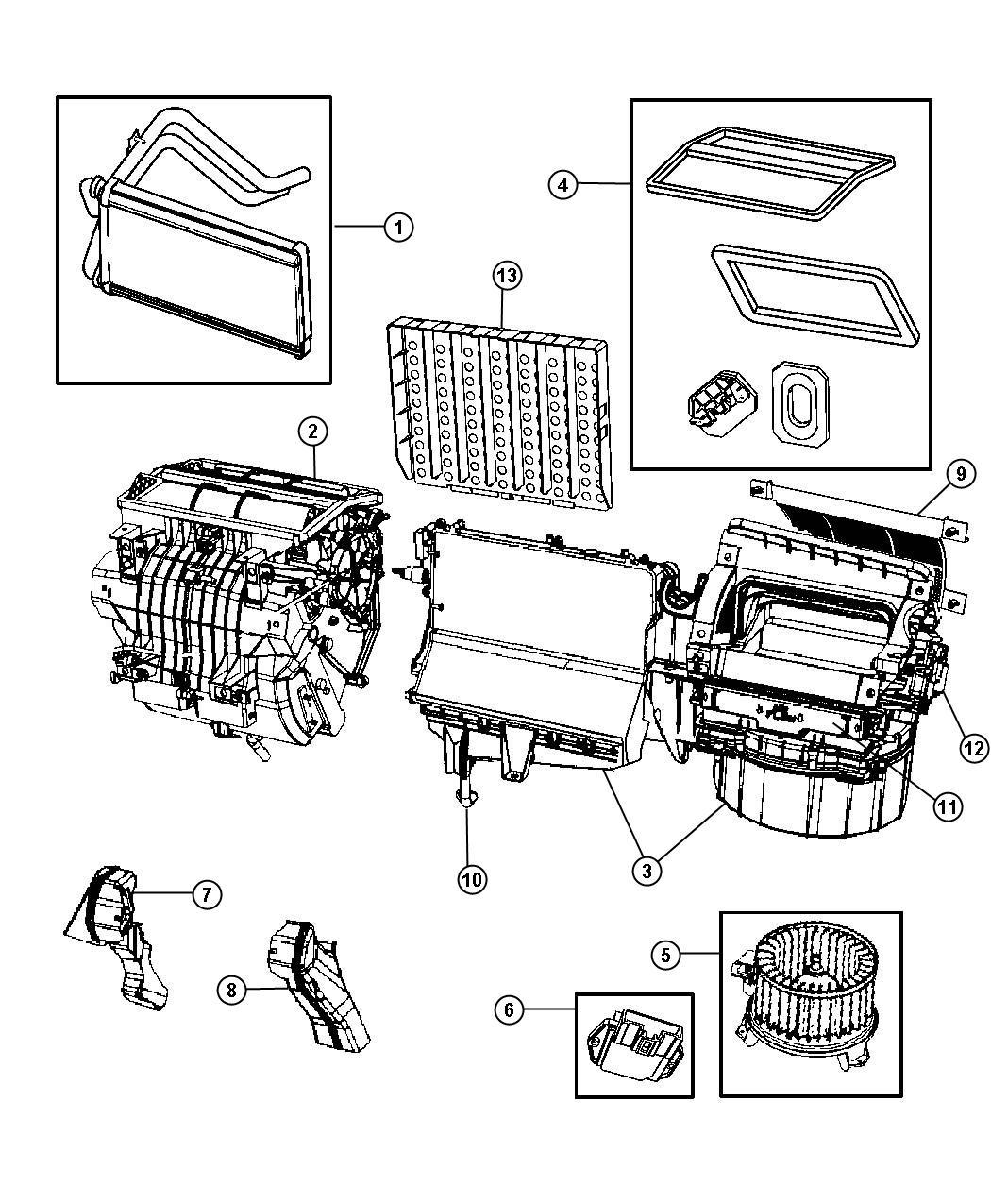 2011 Jeep Wrangler Actuator  Blend Door  A  C And Heater