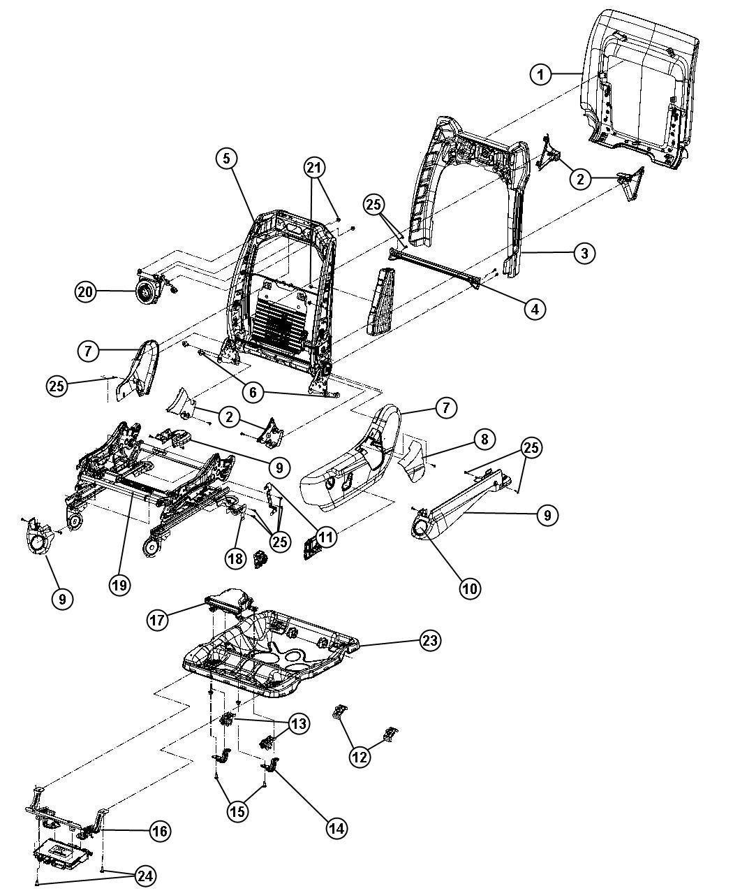 2012 dodge durango shield  inboard  seat adjuster  trim