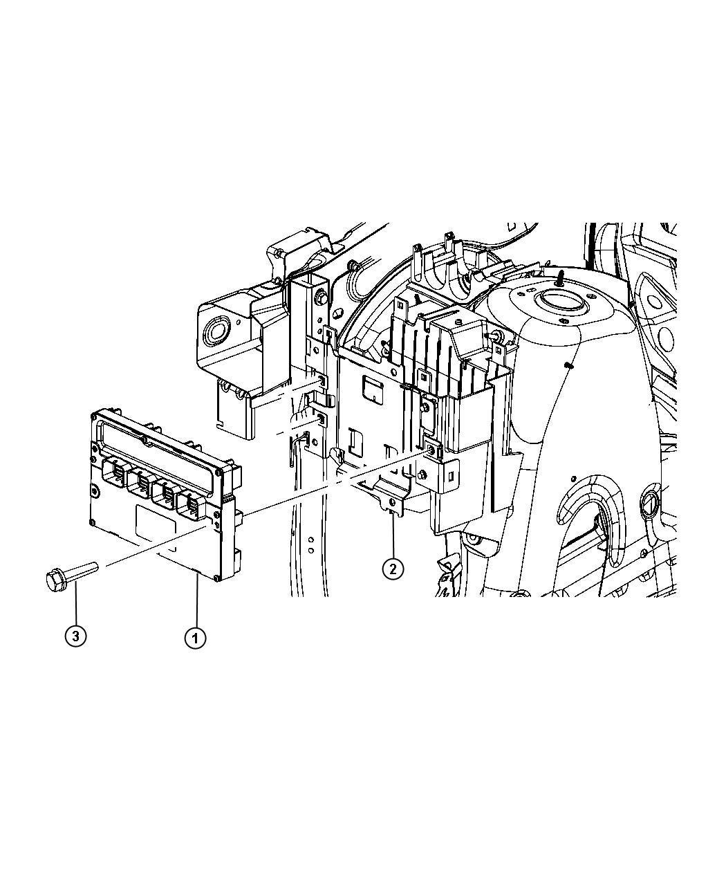 2011 Dodge Module  Powertrain Control  Generic  Engine