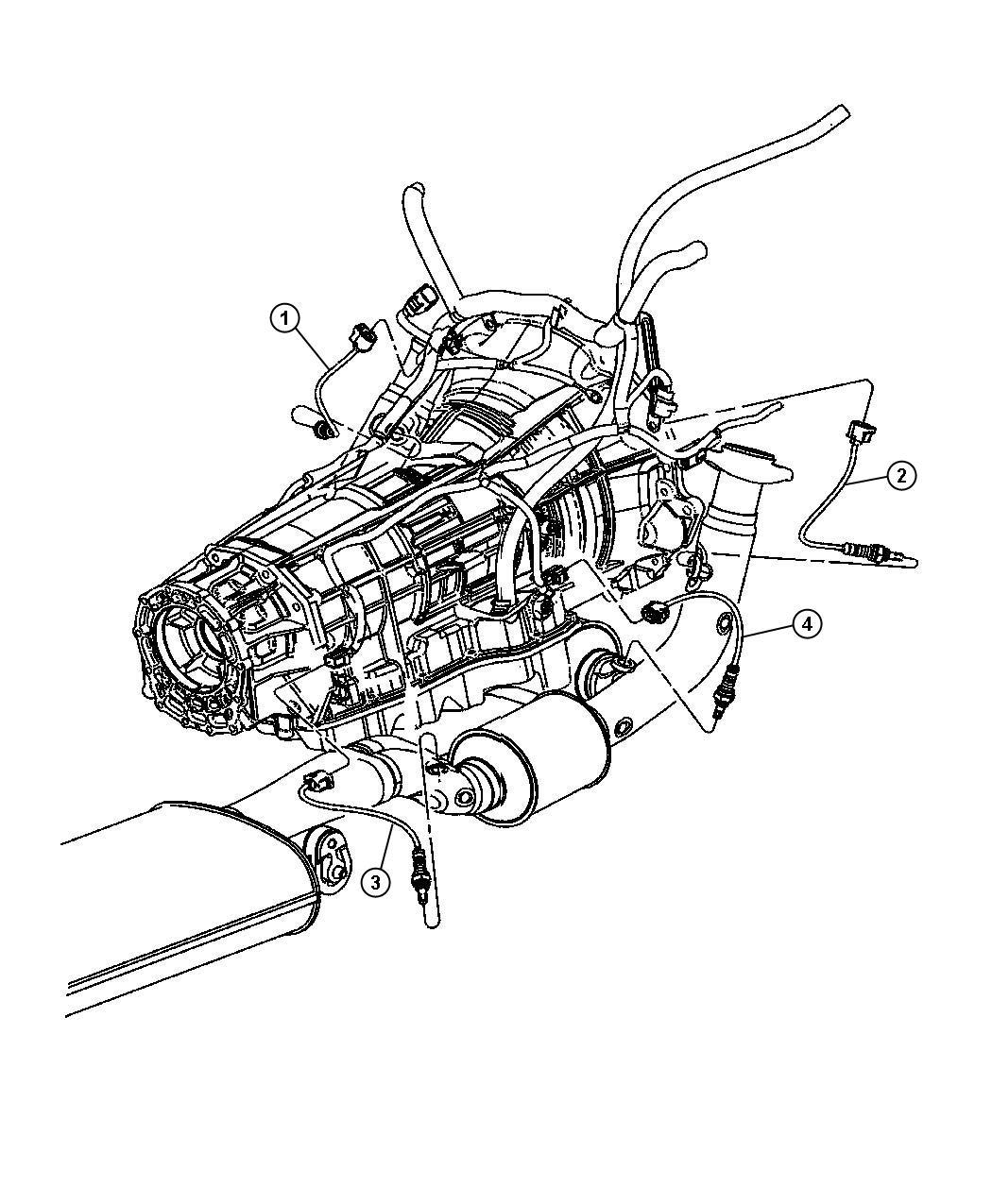 2011 Dodge Durango Sensor  Oxygen  After Catalyst  Before