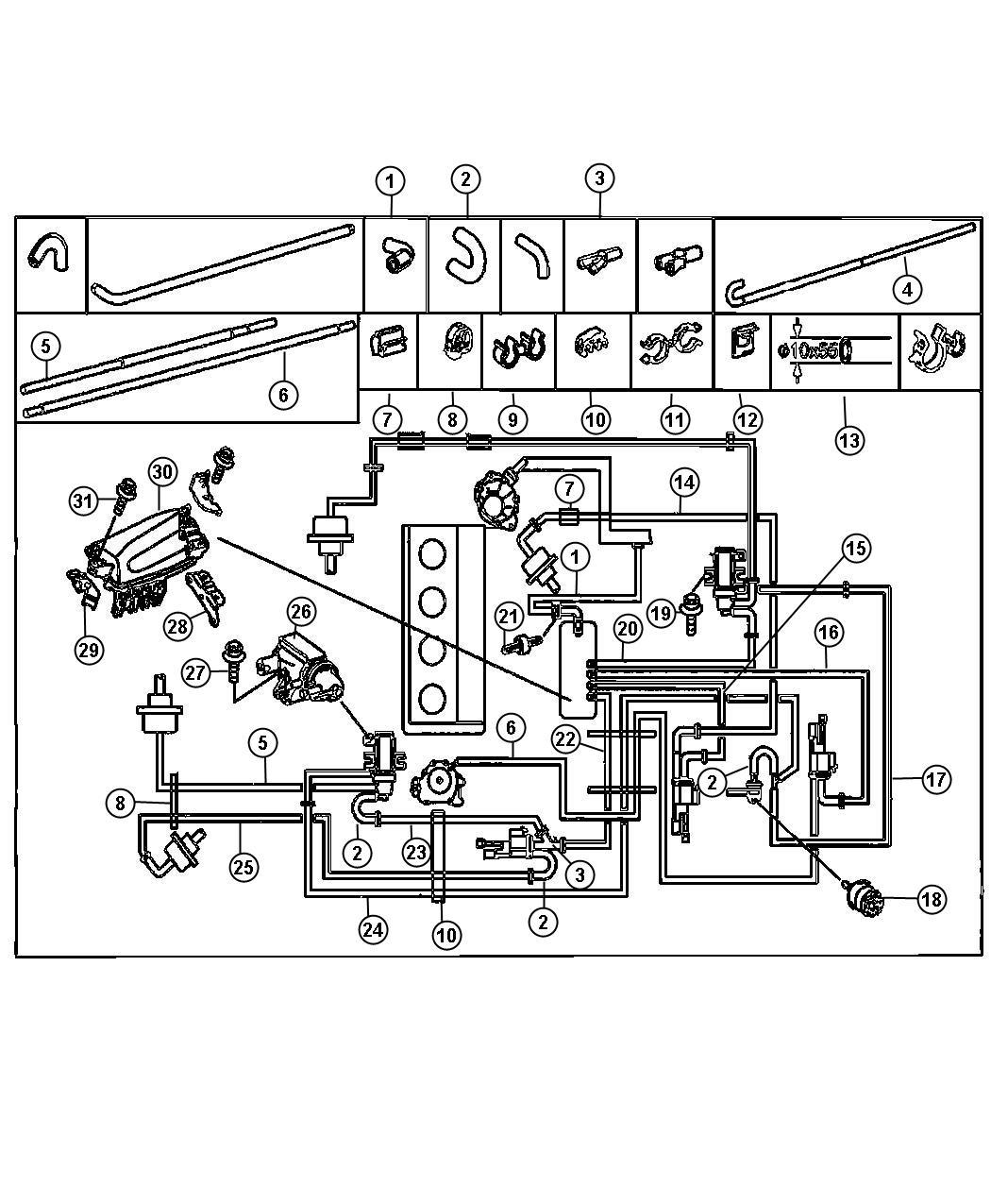 2003 Chrysler PT Cruiser Filter. Vacuum sensor. Diesel ...