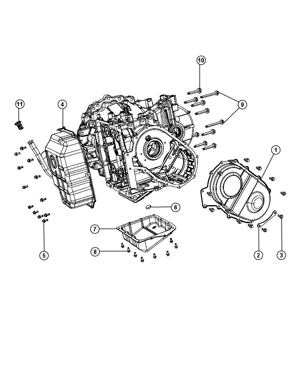 2014 Chrysler Town  U0026 Country Cover  Valve Body  Gear