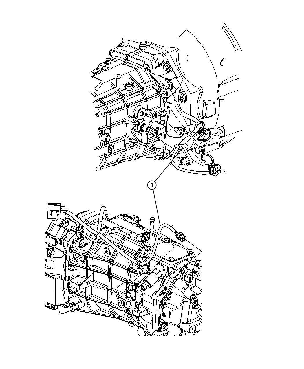Dodge Challenger Wiring  Transmission   6-speed Manual Tremec Transmission