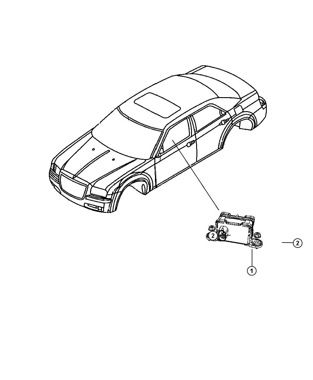 dodge charger sensor  dynamics  used for  lateral acceleration and yaw rate   electronic