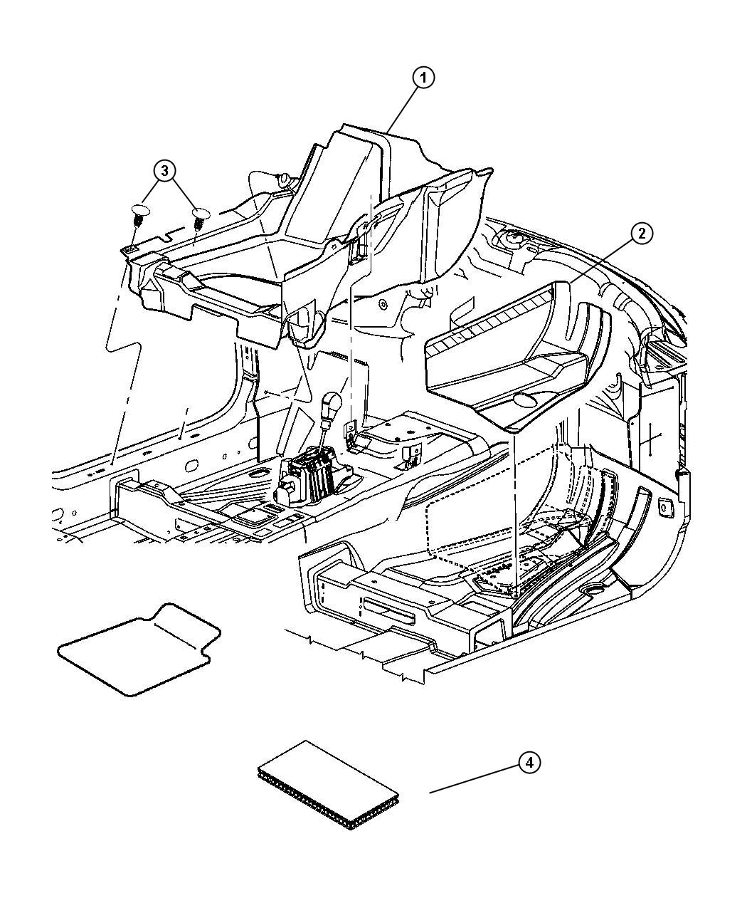 2011       Chrysler       300    Mat kit Used for  front and rear